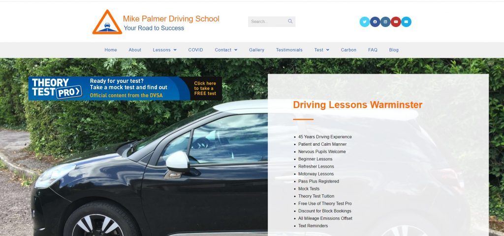 Mike Palmer Driving School Website