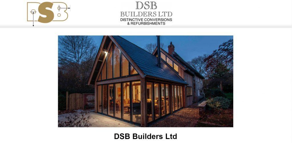 Website Portfolio - Homepage of DSB Builders Ltd.