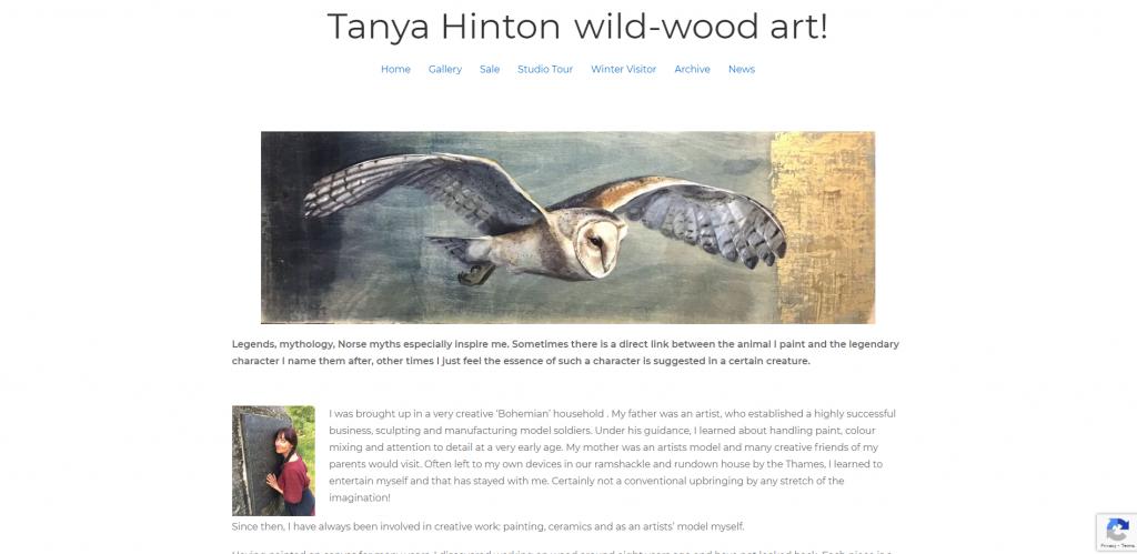 Tanya Hinton wild-wood art! home page